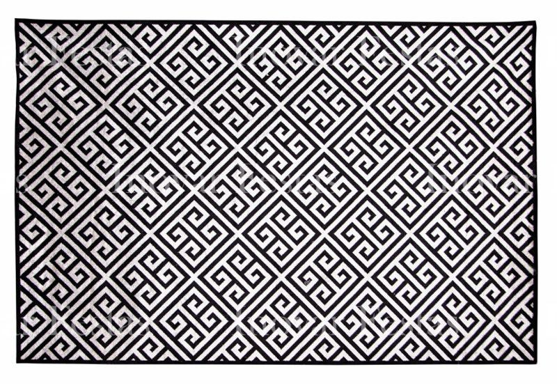 Tapete Belga Geométrico Preto - 3,00 x 2,00