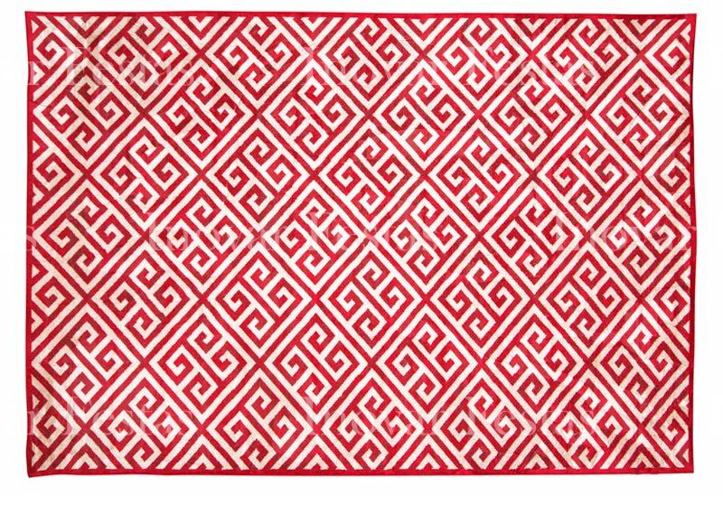 Tapete Belga Geométrico Vermelho - 3,00 x 2,00